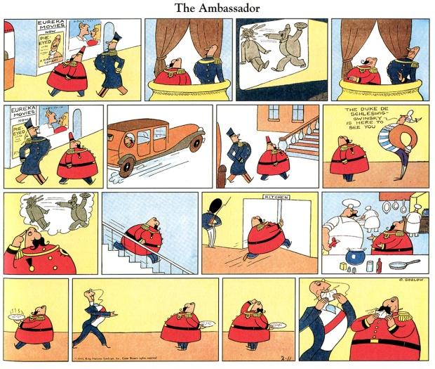 The Ambassador, tira publicada em 11 de fevereiro de 1934