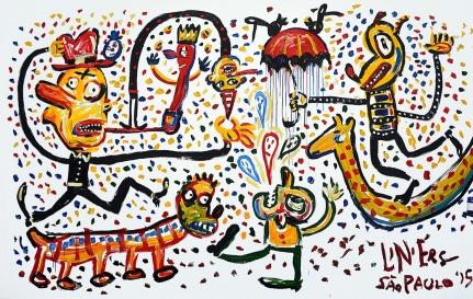 Exposição Macanudismo - abertura Centro Cultural Correios São Paulo Foto Francisco Ucha - Crédito obrigatório Curadoria: Bebel Abreu de 4 de julho a 1 de setembro de 2015